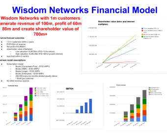 Wisdom network financial forecast model and shareholder value