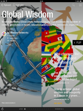 'Global Wisdom' magazine … Flipboard means key messages, content, themes and wisdom understood faster