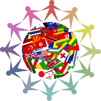 people_circled_around_flag_of_the_world